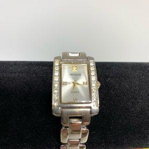 Vintage Venezia Rhinestone Chainlink Wrist Watch
